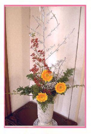 クリスマスの生け花.jpg